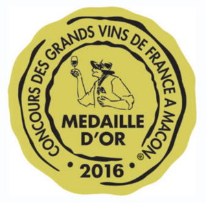 Médaille d'or 2016 - Concours Macon_jaune doré